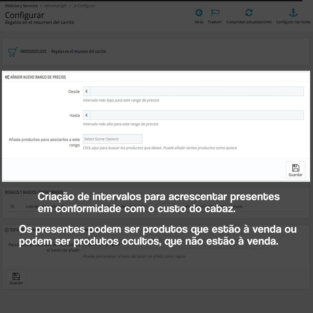 module - Promoções & Brindes - Gifts in shopping carts to increase order price - 2