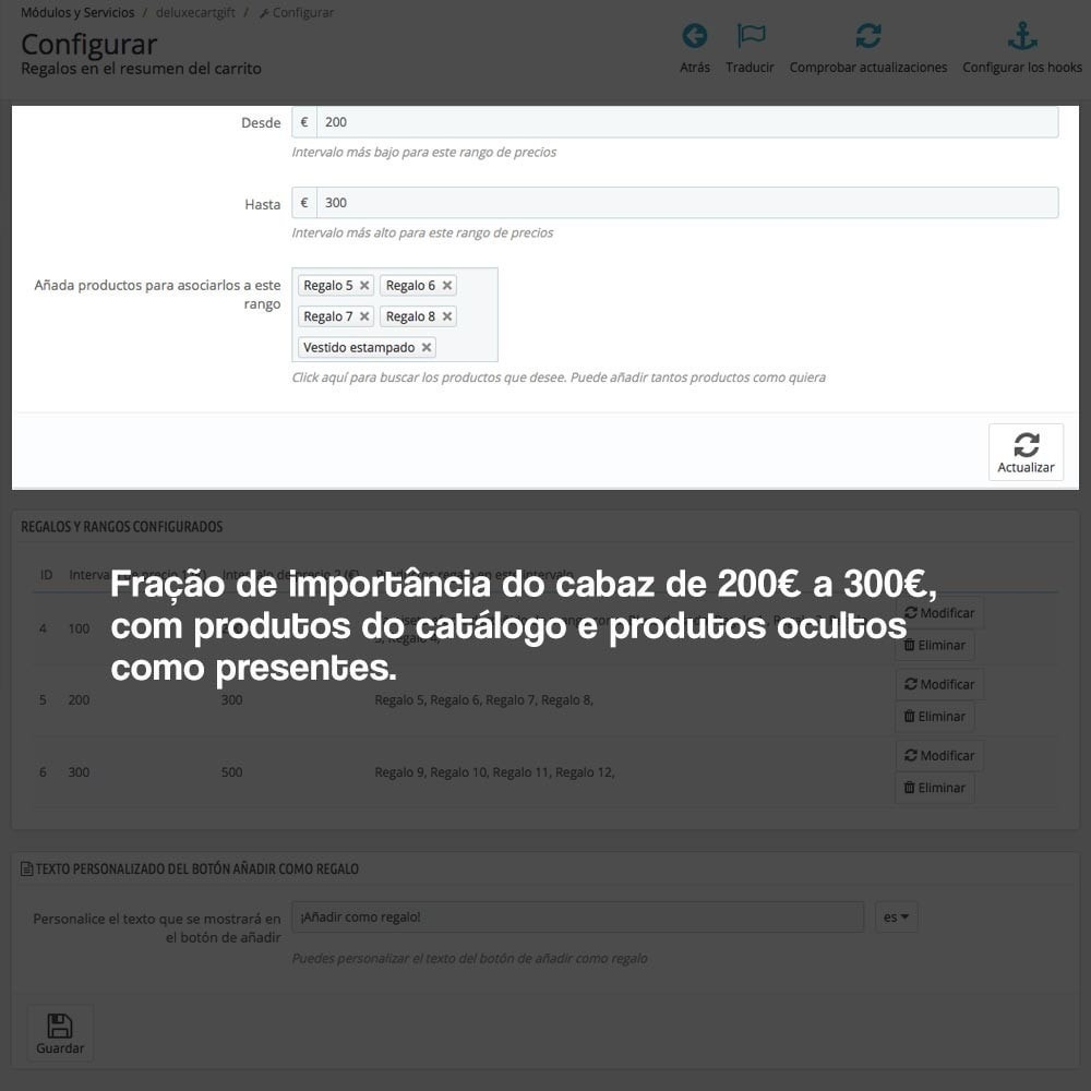module - Promoções & Brindes - Gifts in shopping carts to increase order price - 3