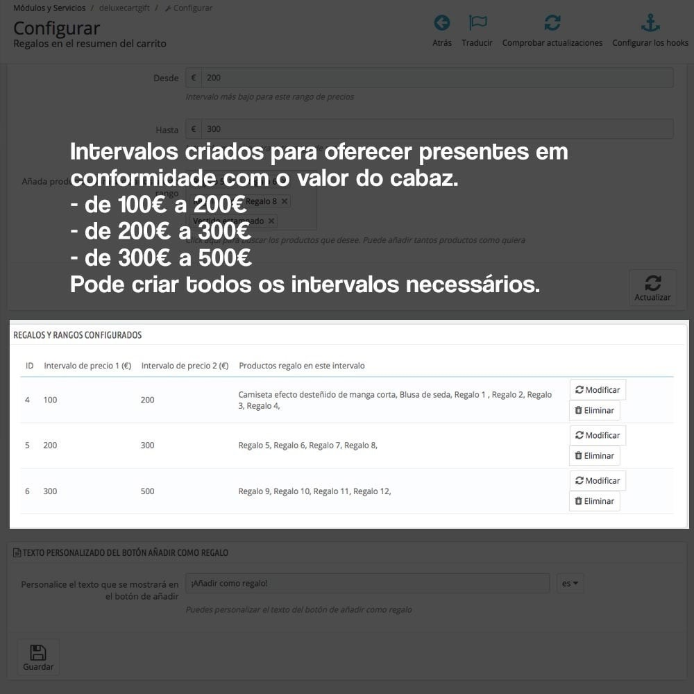 module - Promoções & Brindes - Gifts in shopping carts to increase order price - 5