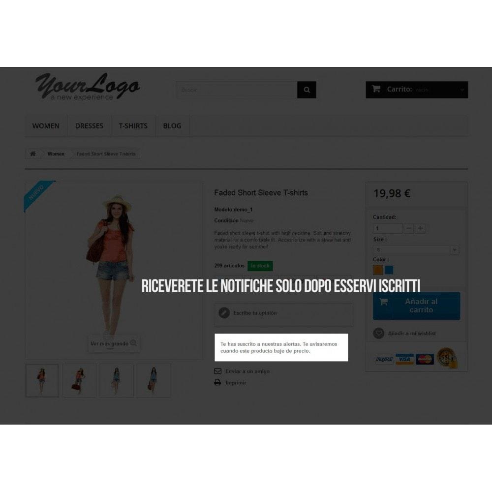 module - Email & Notifiche - Sottoscrizione di notifiche per riduzioni di prezzo - 3