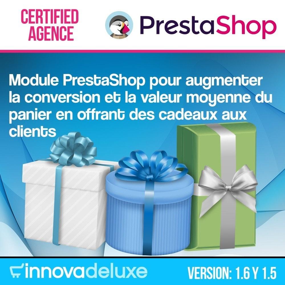 module - Promotions & Cadeaux - Panier cadeau (augmentation de valeur de la commande) - 1
