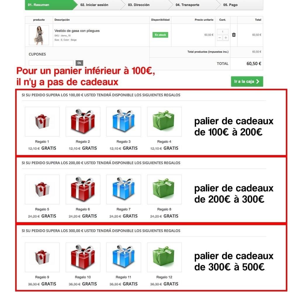 module - Promotions & Cadeaux - Panier cadeau (augmentation de valeur de la commande) - 10