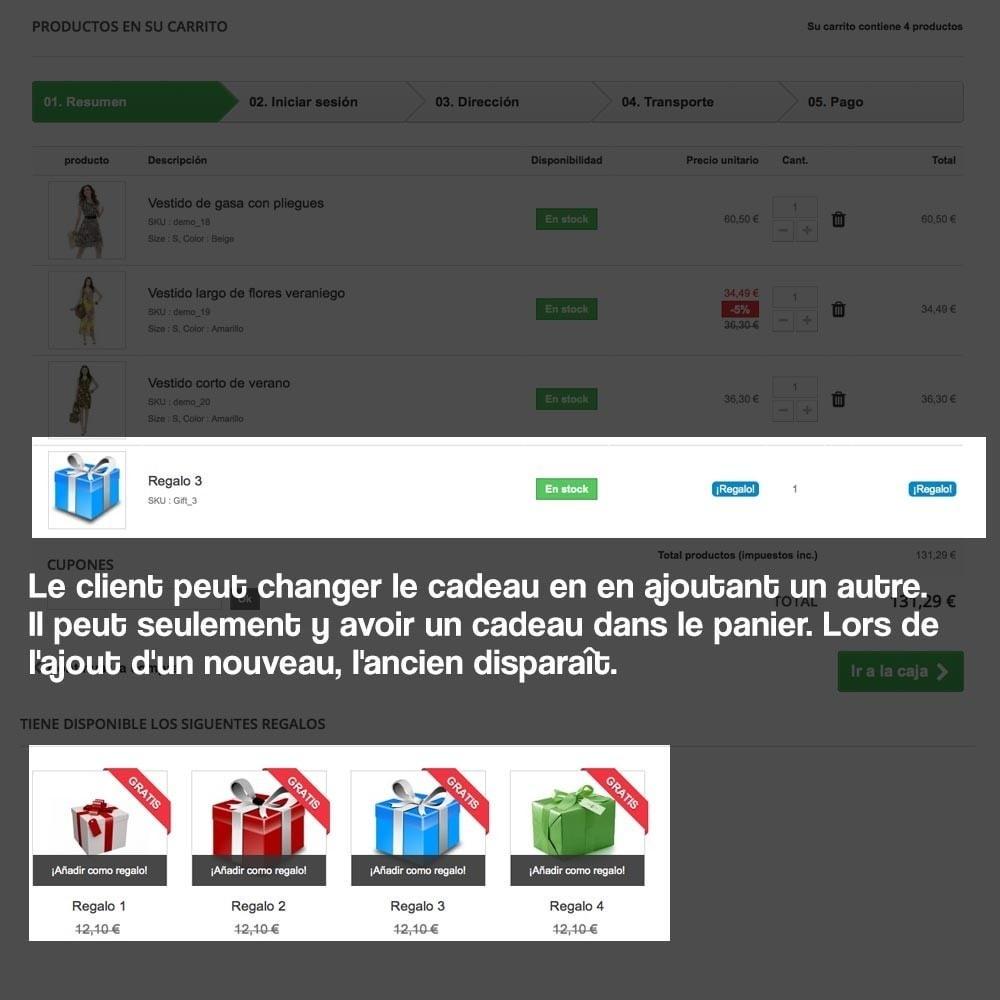 module - Promotions & Cadeaux - Panier cadeau (augmentation de valeur de la commande) - 13
