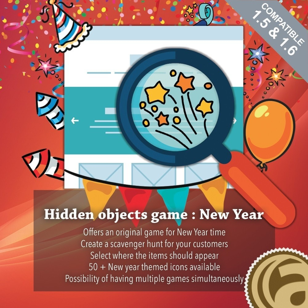 module - Jogos para os Clientes - Hidden objects game : New Year - 1