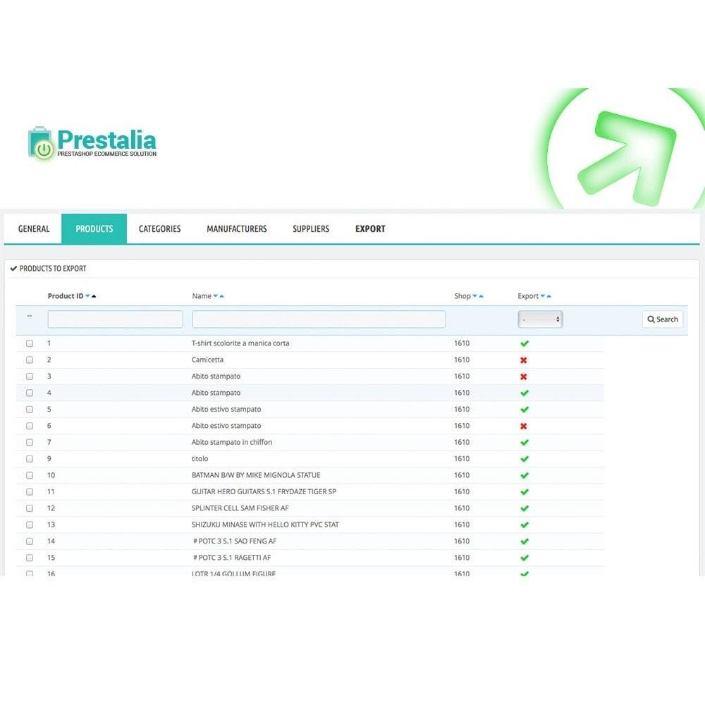 module - Daten Im-&Export - Export Produkte Trovaprezzi mit erweiterten Filtern - 4