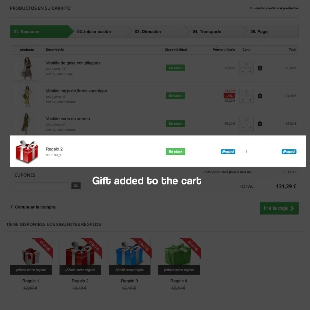 module - Акции и Подарки - Gifts in shopping carts to increase order price - 12