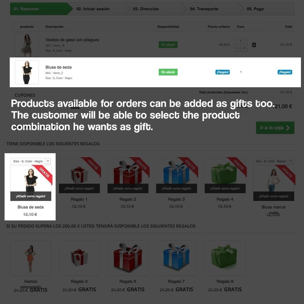module - Акции и Подарки - Gifts in shopping carts to increase order price - 15