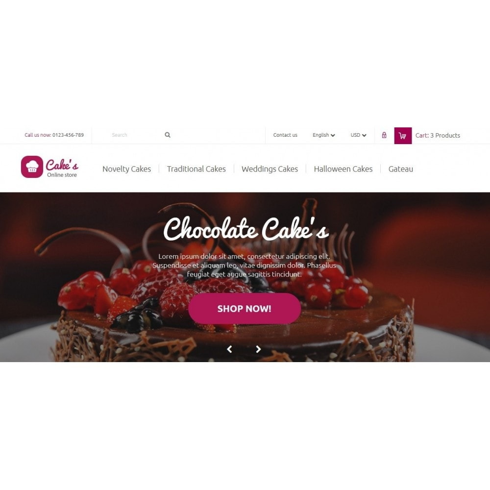 theme - Food & Restaurant - Cakes Online store - 3