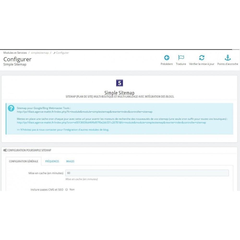 module - SEO (référencement naturel) - Sitemap Simple (Multiboutique, Multilangue et Blogs) - 1