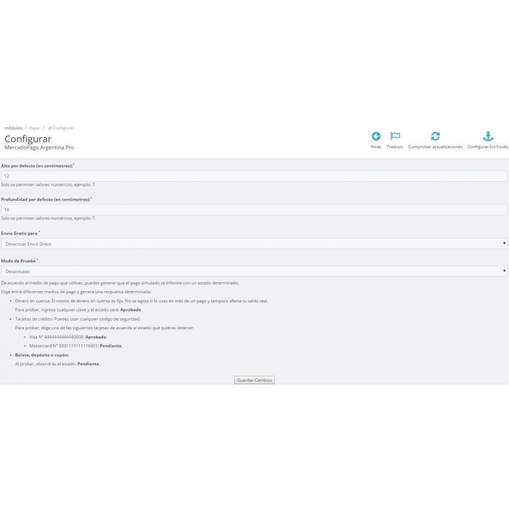 module - Pago con Tarjeta o Carteras digitales - MercadoPago y MercadoEnvios para Brasil - 4
