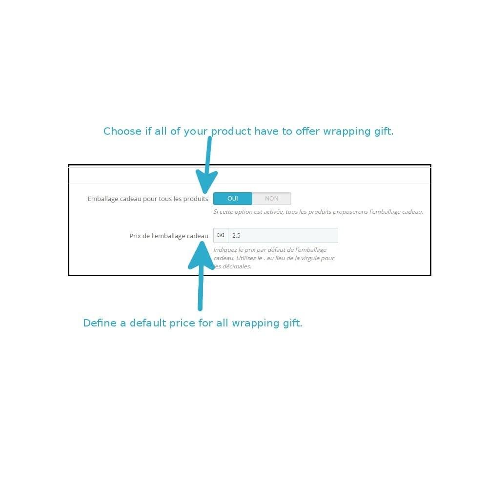 module - Inscripción y Proceso del pedido - Wrapping gift improved - 1