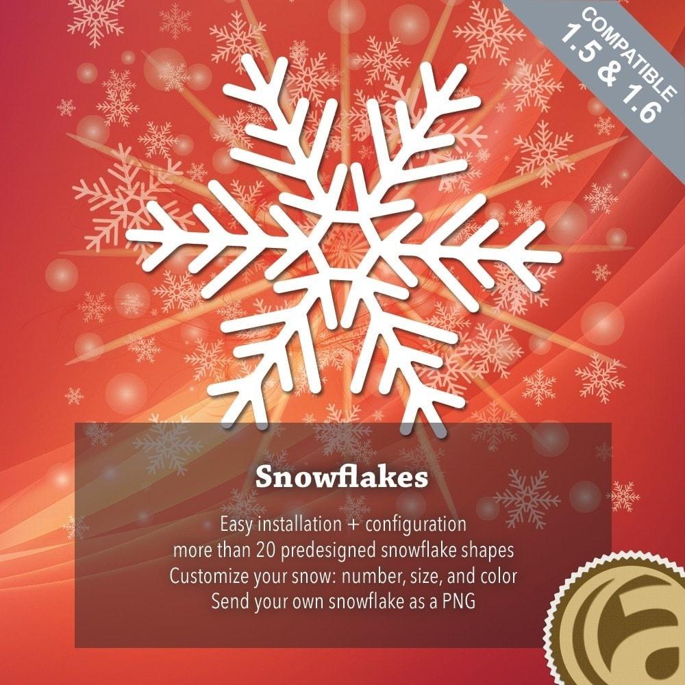 module - Individuelle Seitengestaltung - Snowflakes - 1