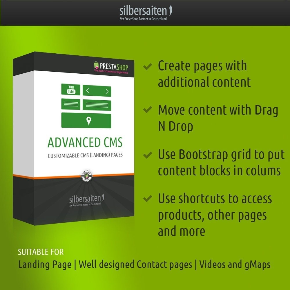 module - Personalizacja strony - Advanced CMS - Contenmaker for Landing Pages - 1