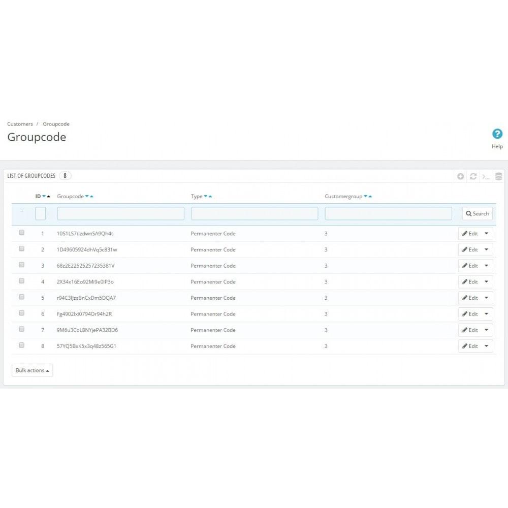 module - Gestion des clients - Group Code Generator - 2