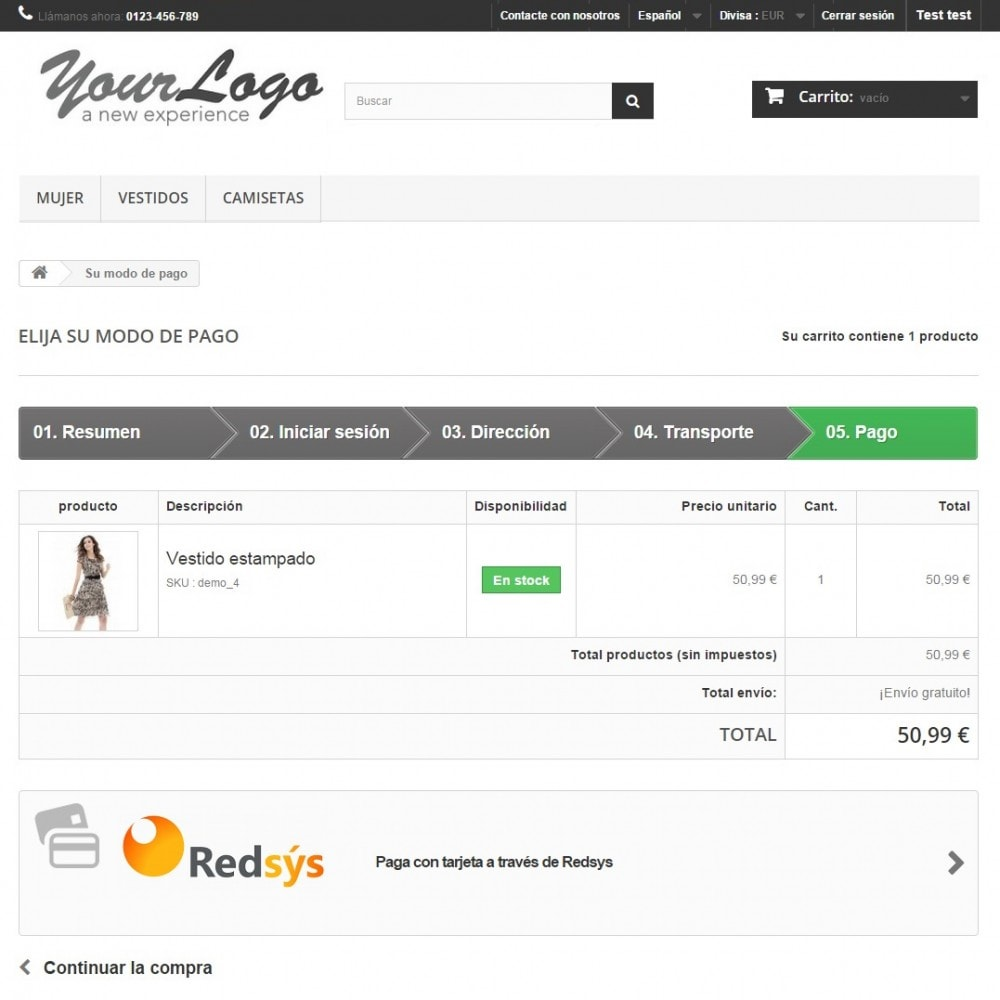 module - Paiement par Carte ou Wallet - Virtual POS Redsys - 2