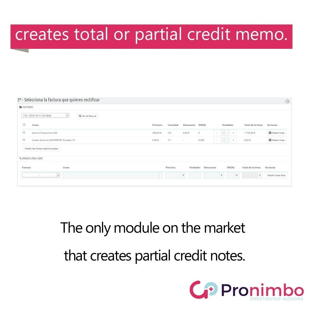module - Buchhaltung & Rechnung - Credit Notes/Memos. Complete or Partial. - 2