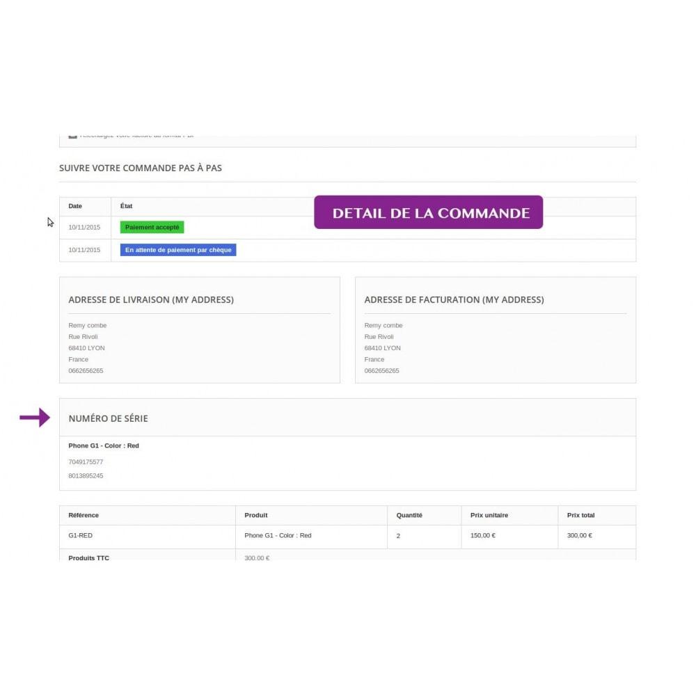module - Produits virtuels (téléchargeables) - Numéros de série (gestion des produits à clé) - 13