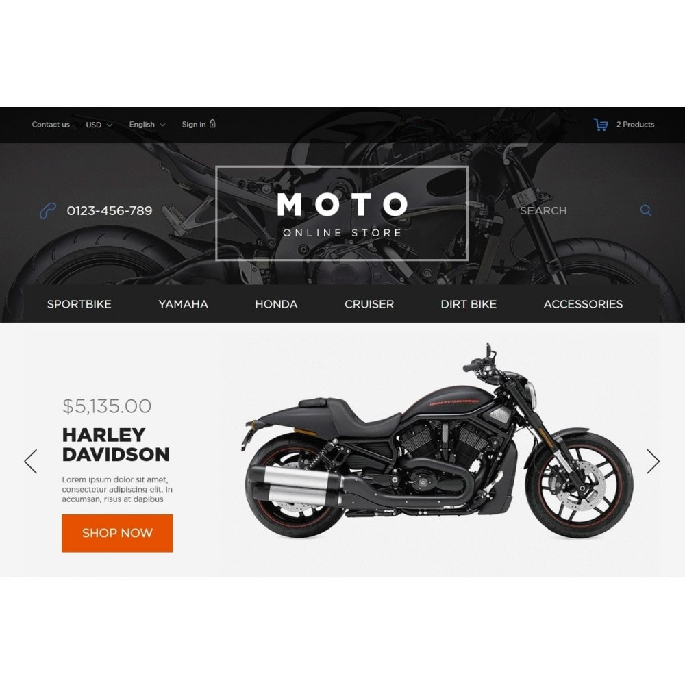 theme - Automotive & Cars - Moto and Bikes Online store 1.6 Responsive - 3