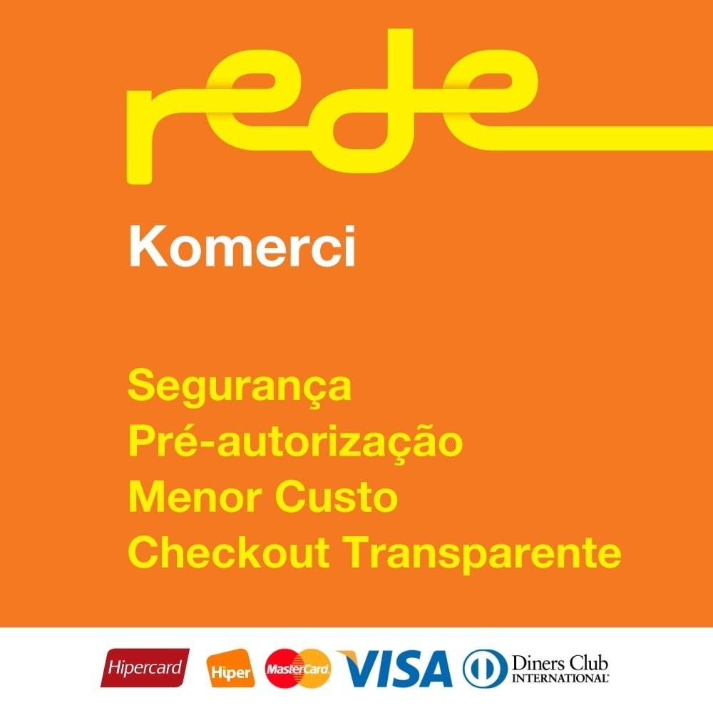 module - Pago con Tarjeta o Carteras digitales - Pagos Brasileño por Rede Card - Komerci - 1