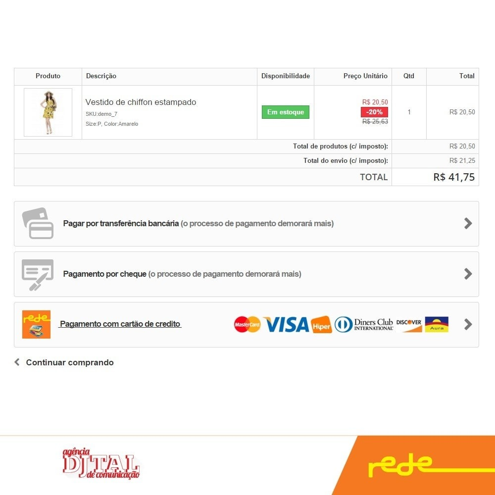 module - Paiement par Carte ou Wallet - Brazilian Payment by Rede Card - Komerci - 2