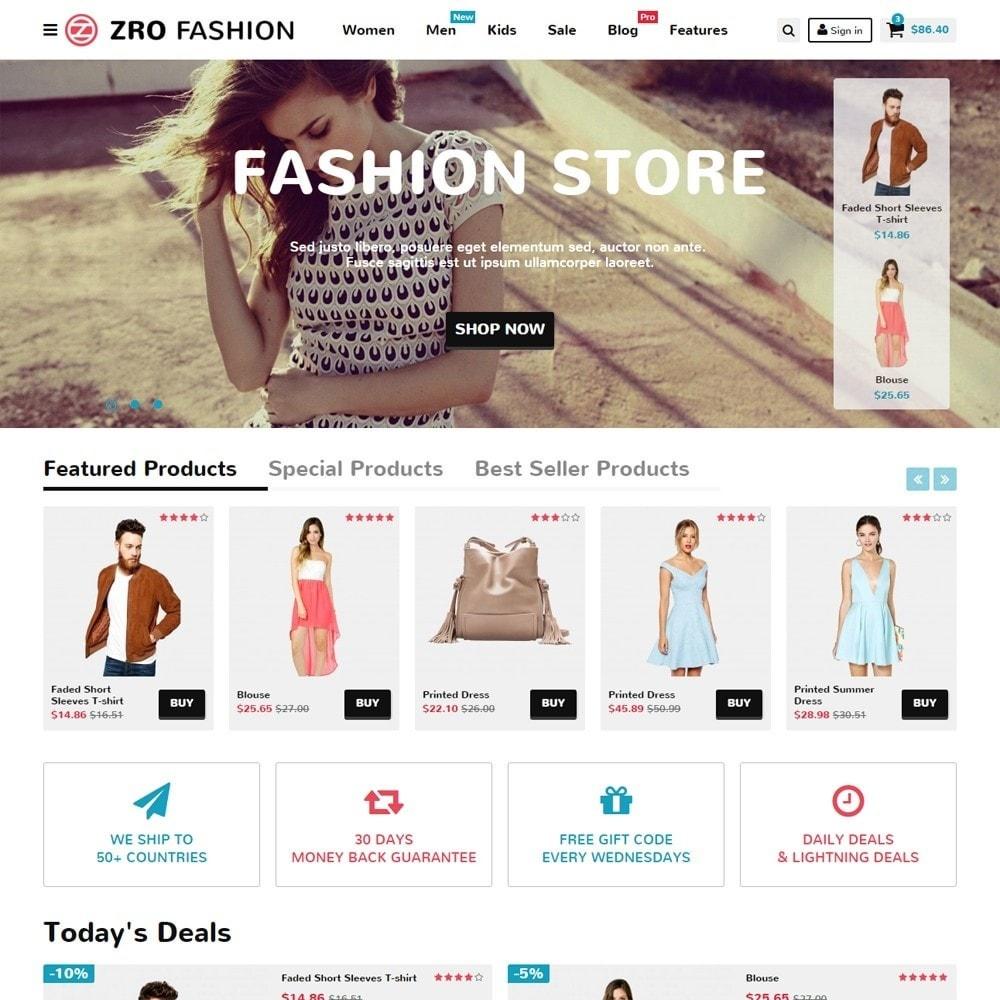 theme - Mode & Chaussures - Zro02 - Fashion Responsive & Flexible - 2
