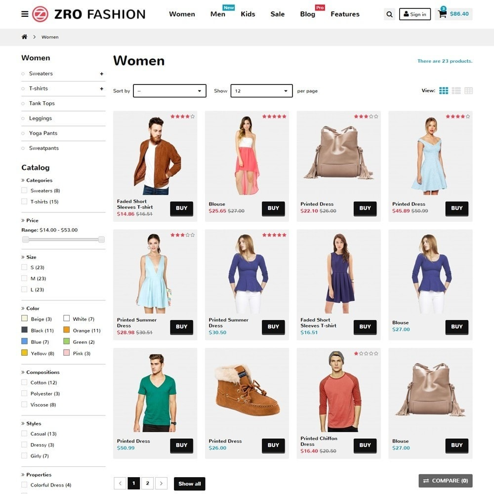 theme - Moda & Calçados - Zro02 - Fashion Responsive & Flexible - 6