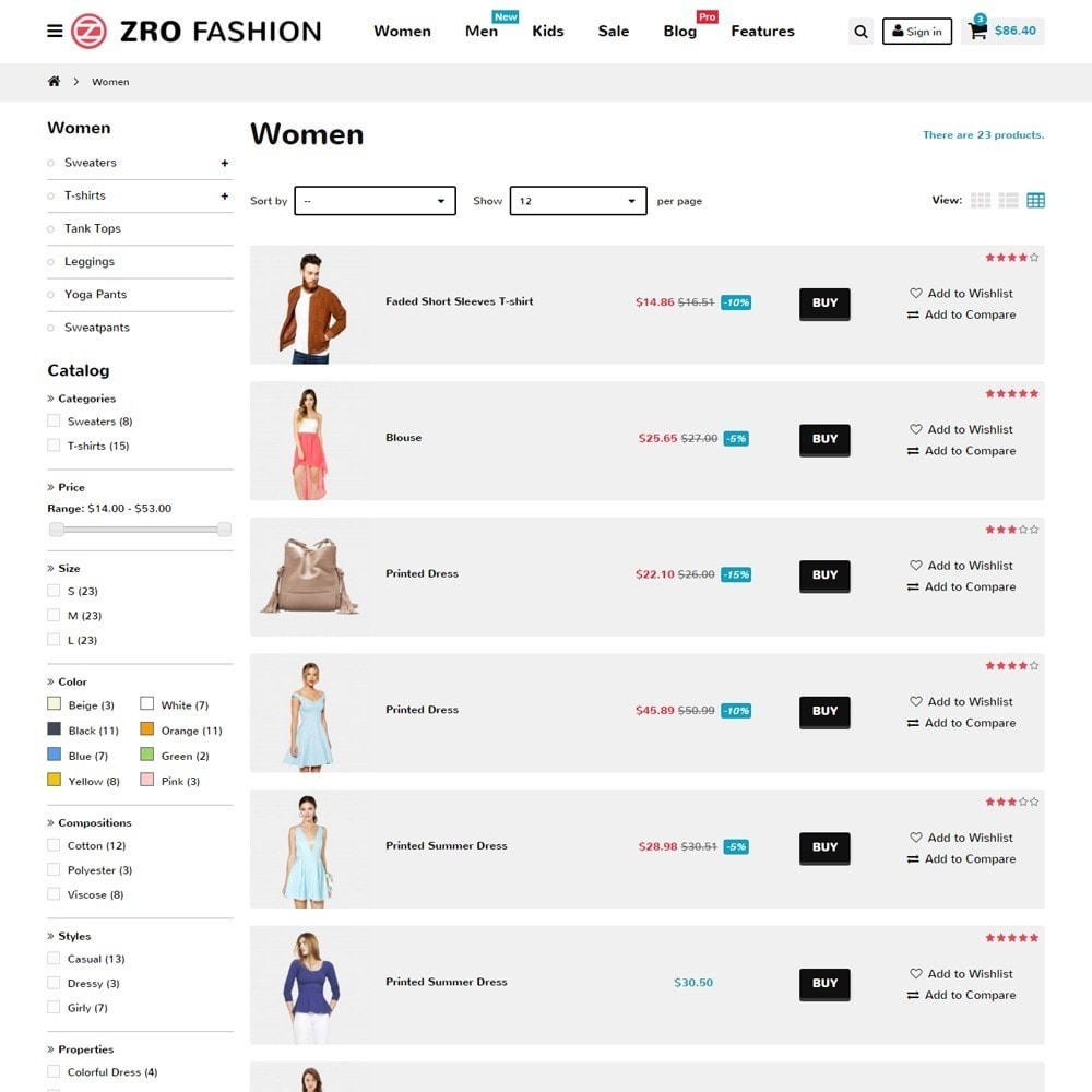 theme - Mode & Chaussures - Zro02 - Fashion Responsive & Flexible - 8