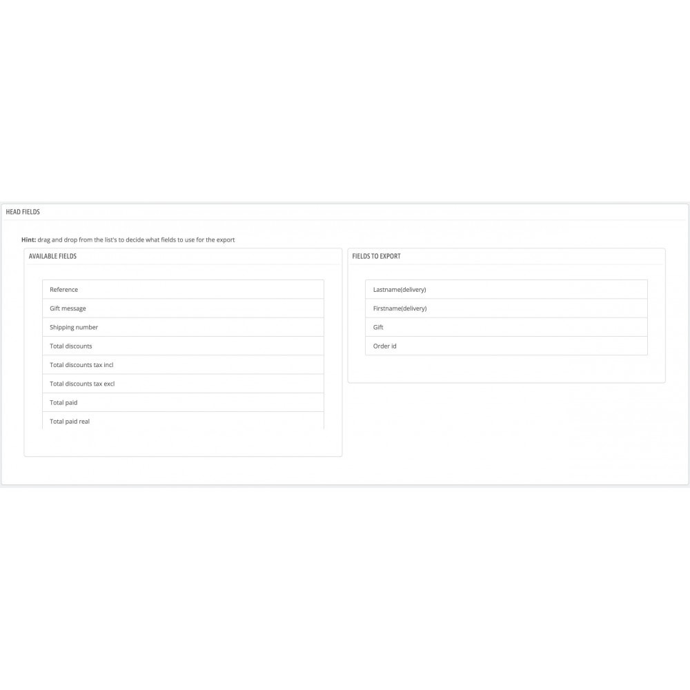 module - Integrazione (CRM, ERP...) - Pyramid order export - 1