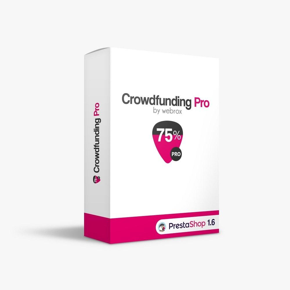 module - Autres moyens de paiement - Crowdfunding Pro - 1
