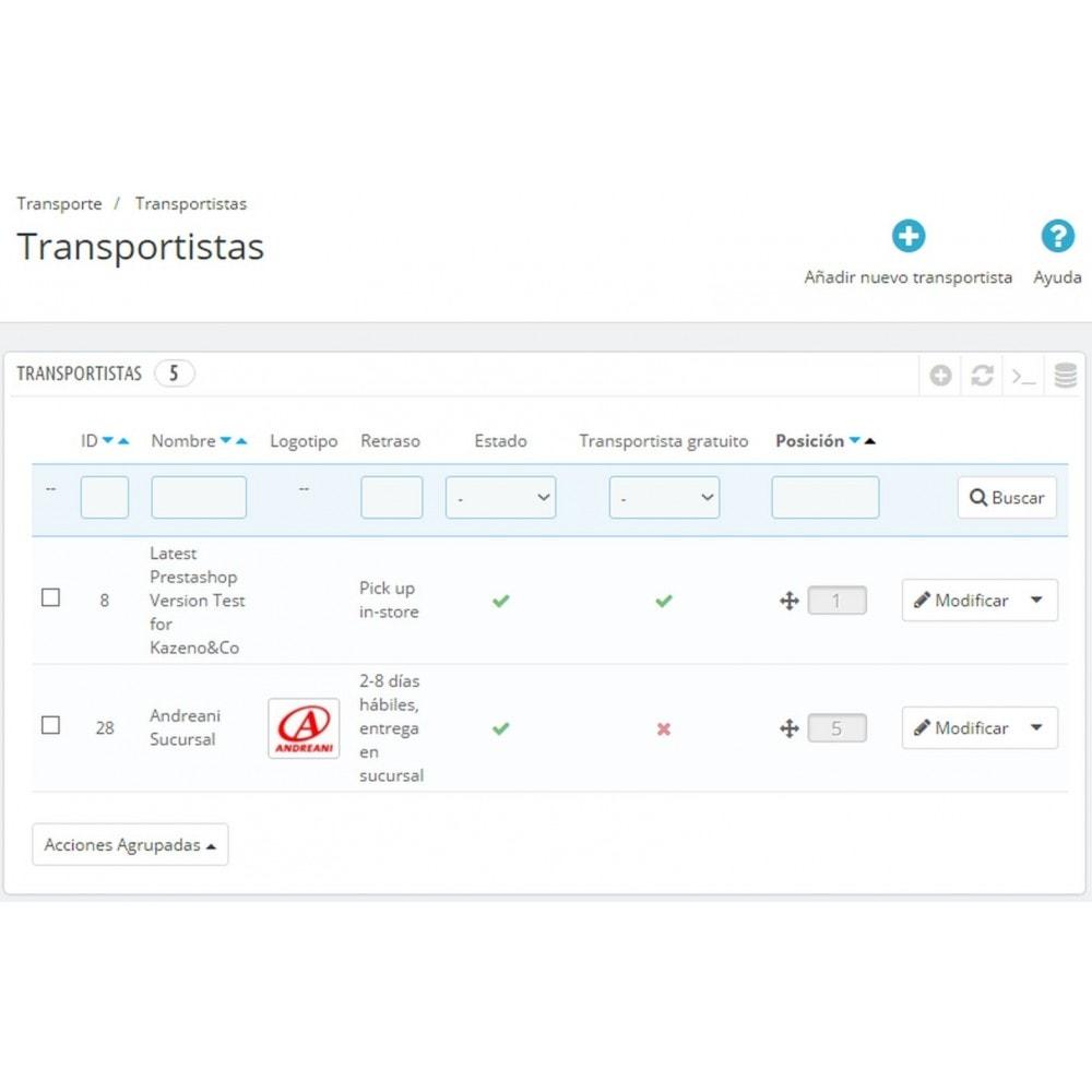 module - Transportistas - Envíos Andreani - 15