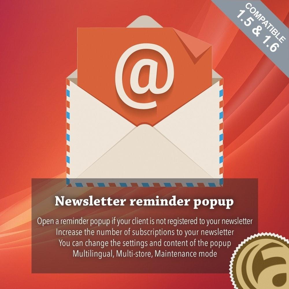 module - Remarketing & Achtergelaten winkelmanden - Newsletter reminder popup - 1
