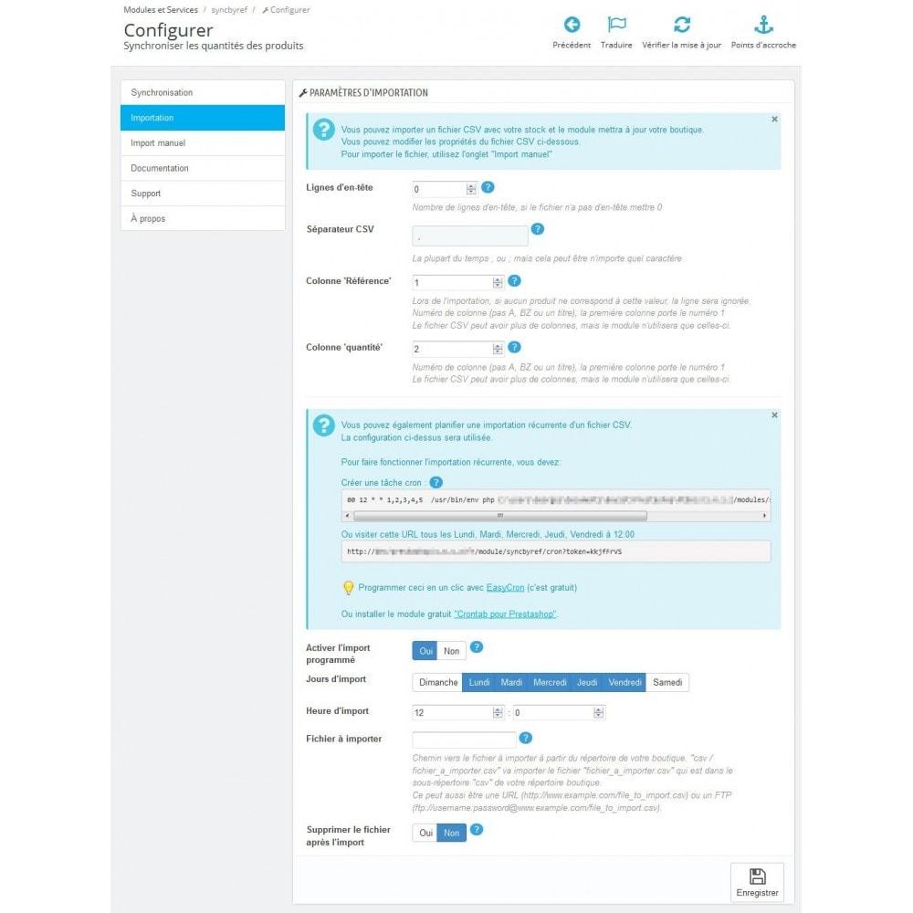 module - Import & Export de données - Importer et synchroniser les quantités des produits - 3