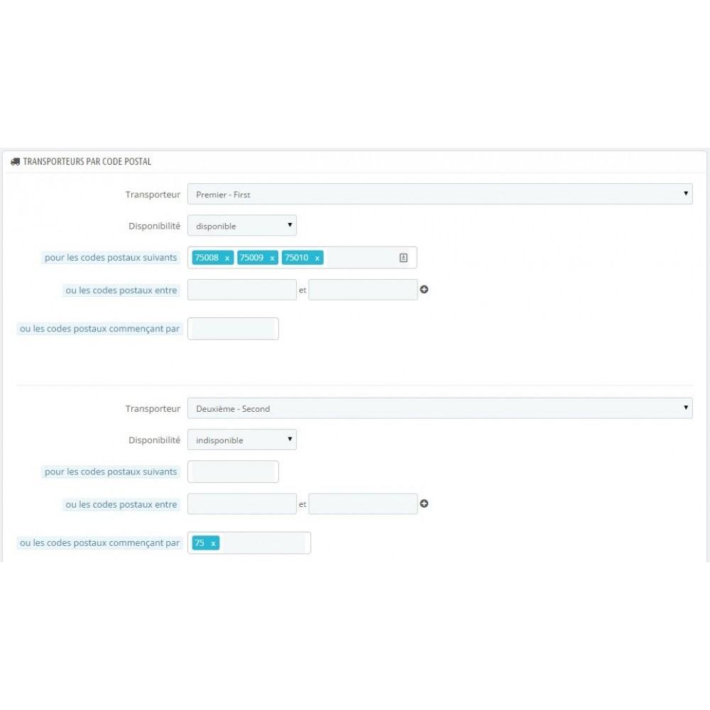 module - Frais de port - Postal Deliv: Frais de port par codes postaux - 2