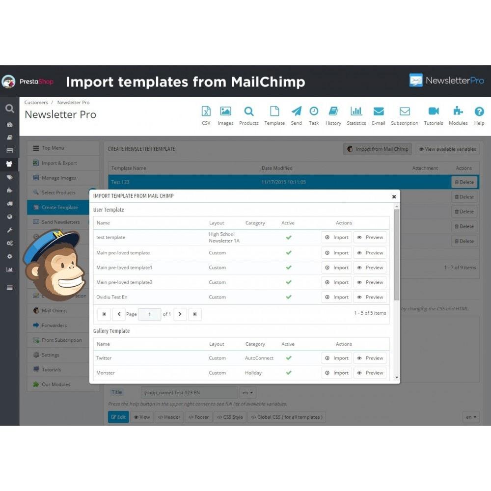 module - Newsletter & SMS - Newsletter Pro - 17