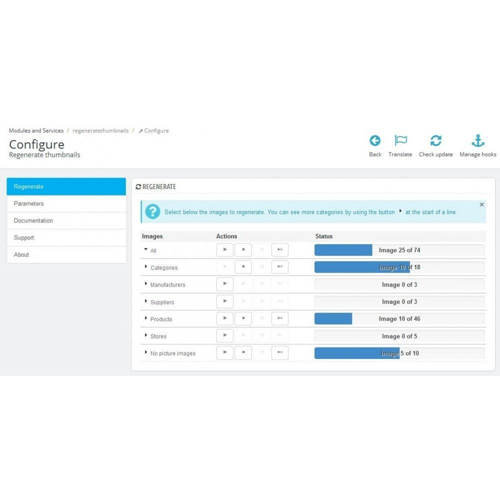 module - Fast & Mass Update - Regenerate Thumbnails - 1