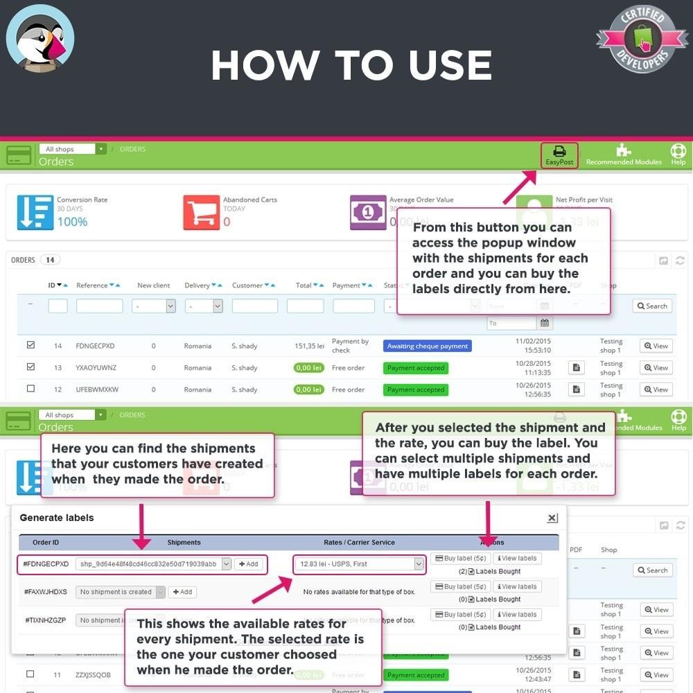 module - Preparação & Remessa - Easy Post Pro (DHL, GLS, DPD, Colissimo, RoyalMail etc) - 5