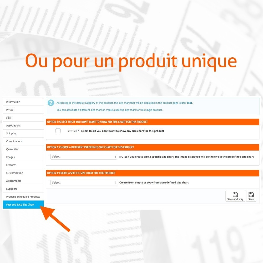 module - Tailles & Dimensions - Fast and Easy Tableau des Tailles - 3