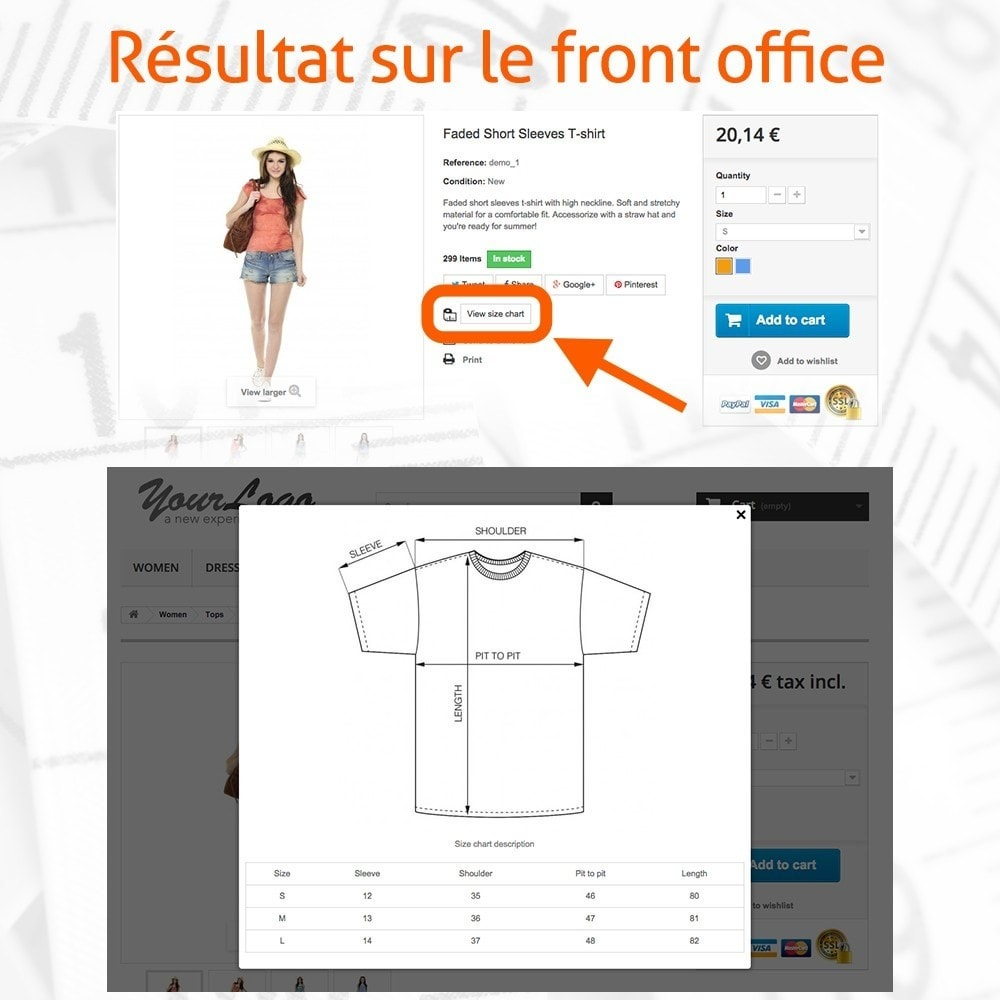 module - Tailles & Dimensions - Fast and Easy Tableau des Tailles - 4