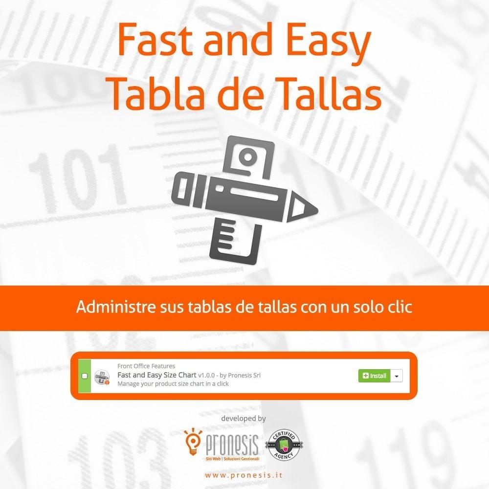 module - Tallas y Dimensiones - Fast and Easy Tabla de Tallas - 1