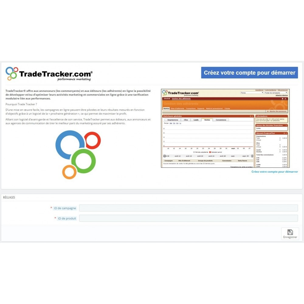 module - Analyses & Statistiques - TradeTracker Conversions - 1