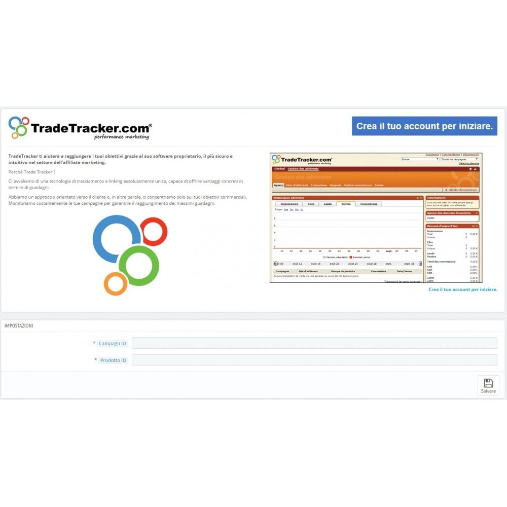 module - Analytics & Statistiche - TradeTracker Conversioni - 1