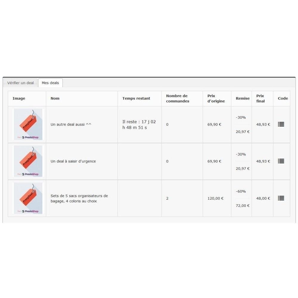 module - Закрытых и рекламных распродаж - PresyDeal - 6