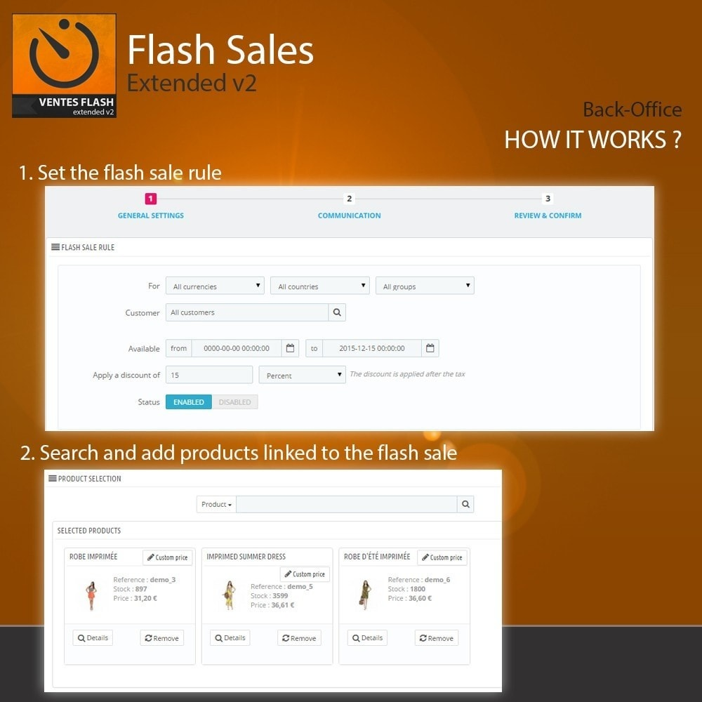 module - Vendas Privadas & Vendas Ultrarrápidas - Flash Sales - Extended - 3