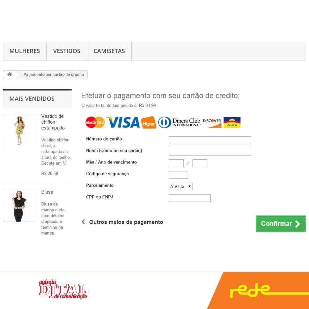 module - Pago con Tarjeta o Carteras digitales - Pagos Brasileño por Rede Card - Komerci - 3