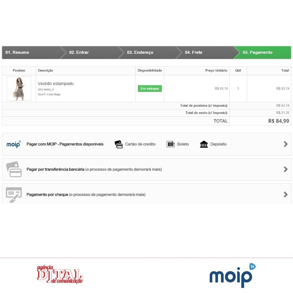 module - Paiement par Carte ou Wallet - Moip Transparent Checkout - 3