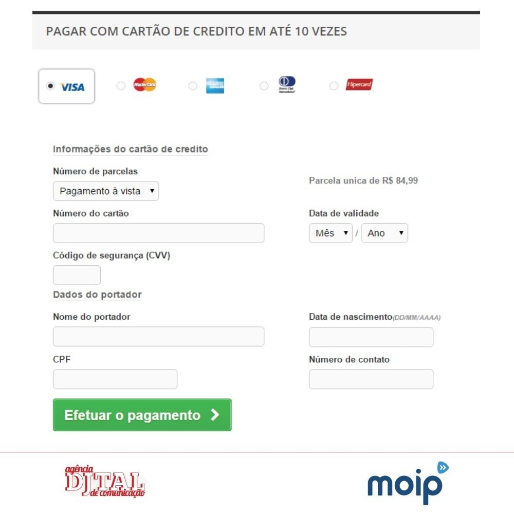 module - Paiement par Carte ou Wallet - Moip Transparent Checkout - 5