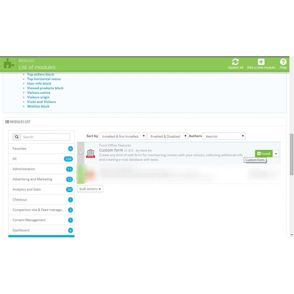 module - Kontaktformular & Umfragen - Custom Fields / Custom Form Builder / Maker - 1