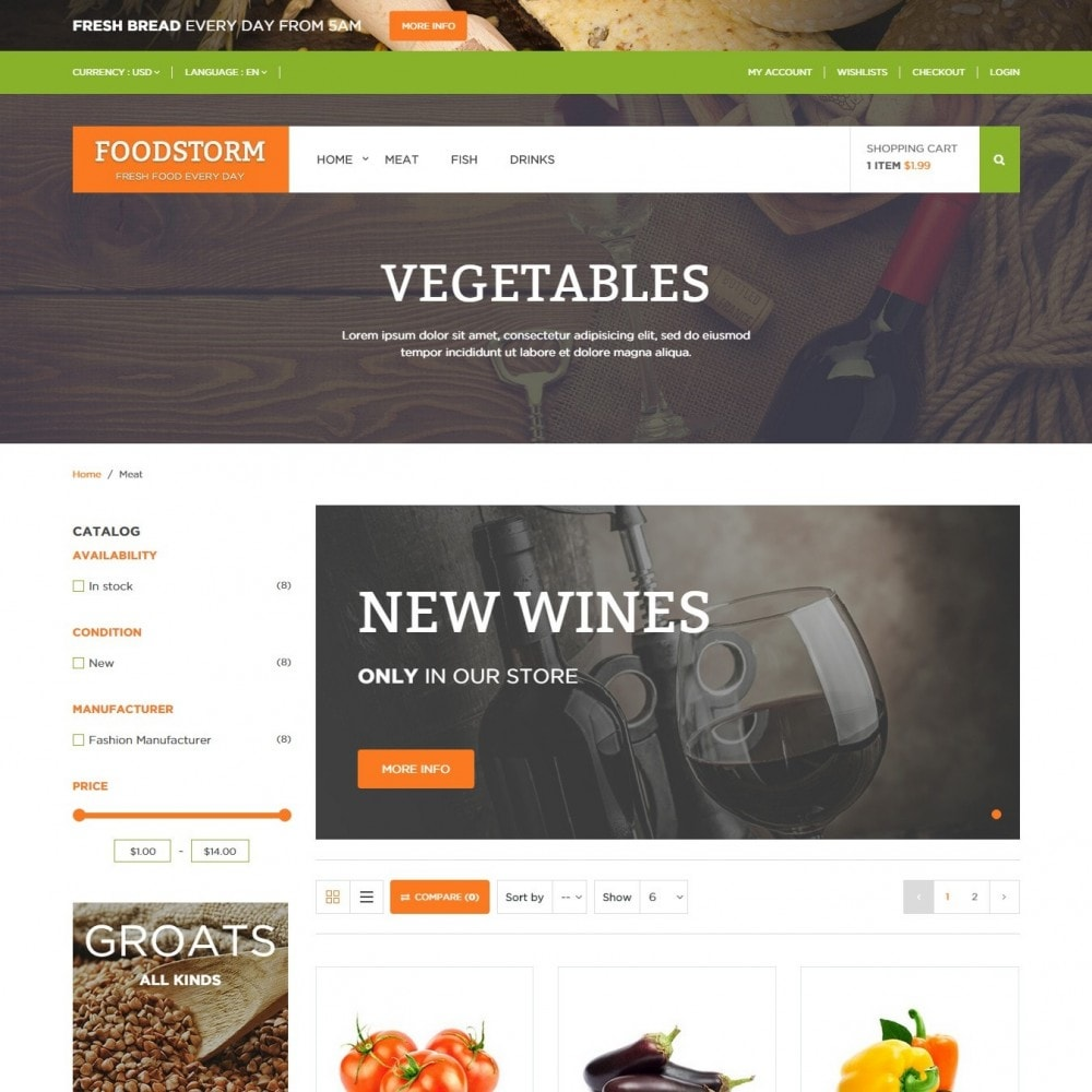 theme - Alimentation & Restauration - Magasin d'aliments - 3