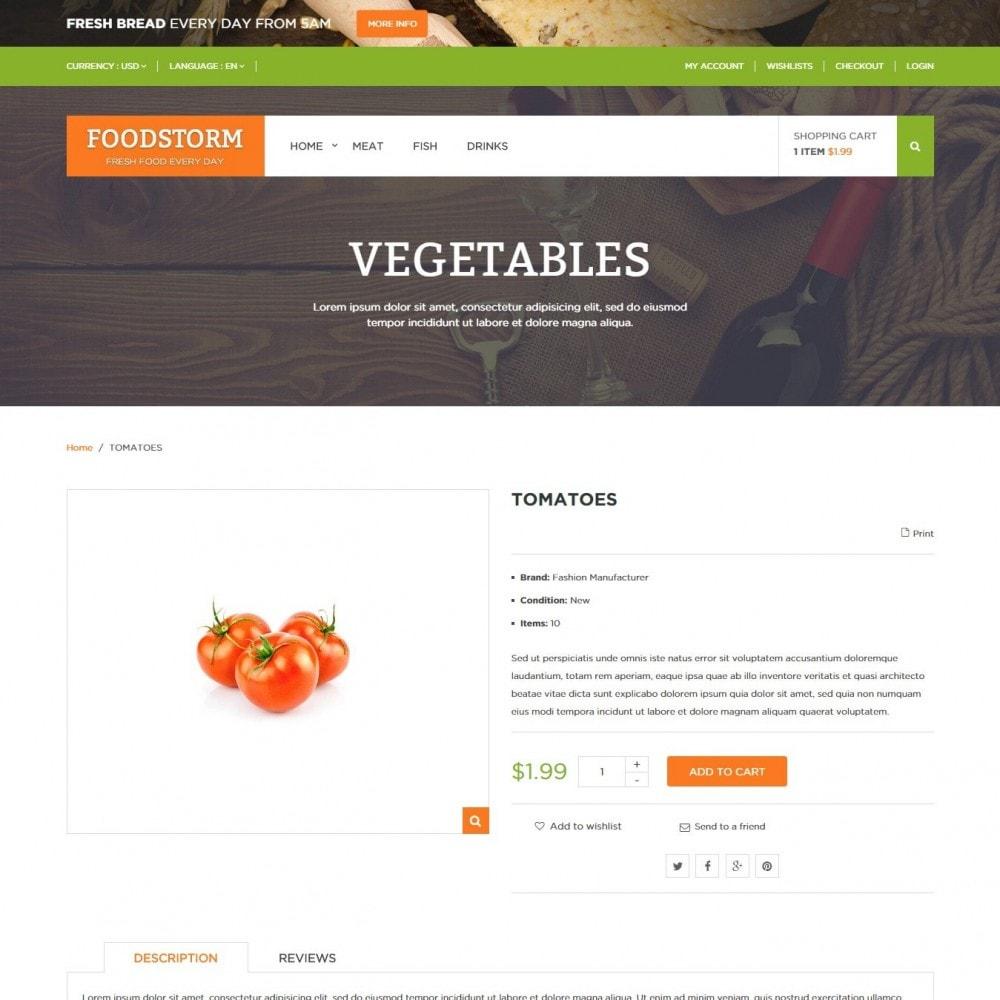 theme - Gastronomía y Restauración - Tienda de Alimentos - 4