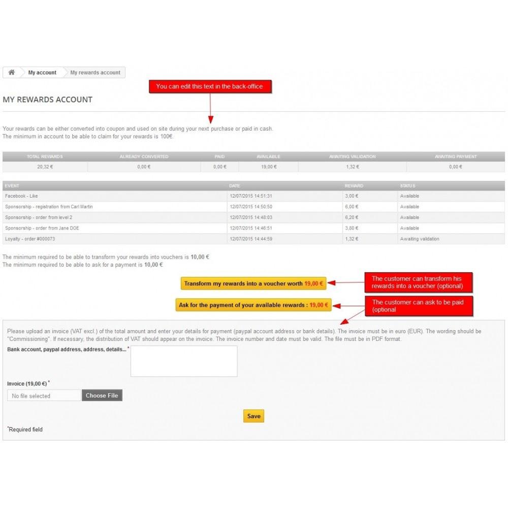 module - Fidelização & Apadrinhamento - All-in-one Rewards: Fidelidade, patrocínio, afiliação - 4